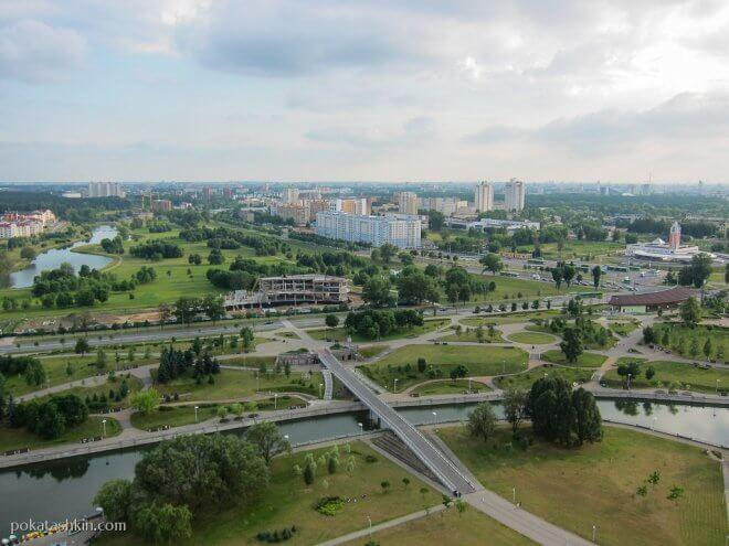 Обзорная площадка Национальной библиотеки Беларуси