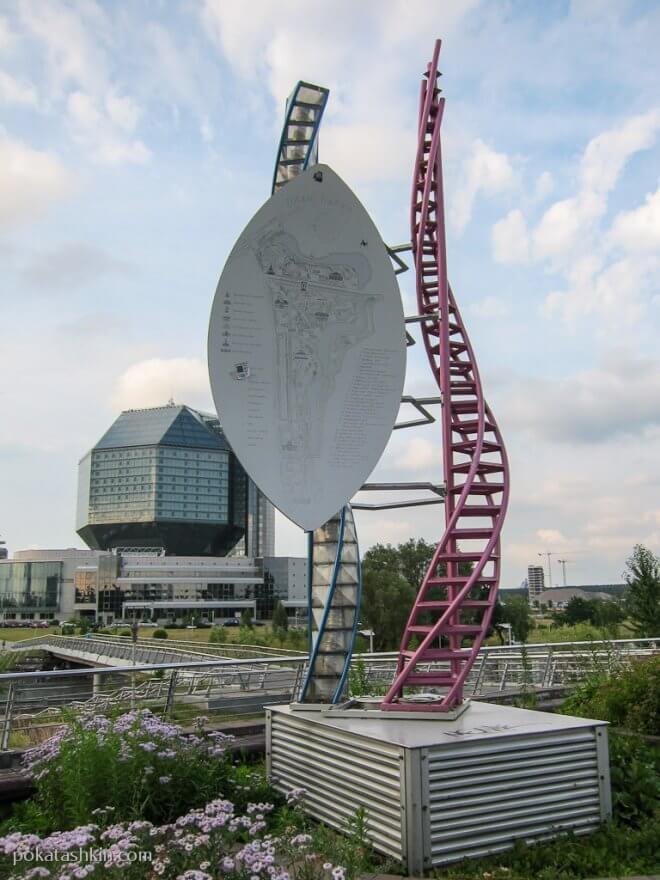План парка возле Национальной библиотеки Беларуси