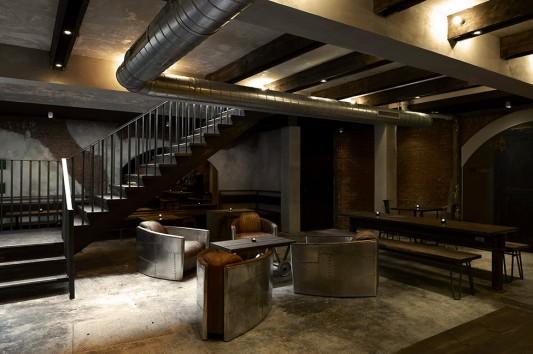 Индустриальный стиль ресторана Dabbous в Лондоне