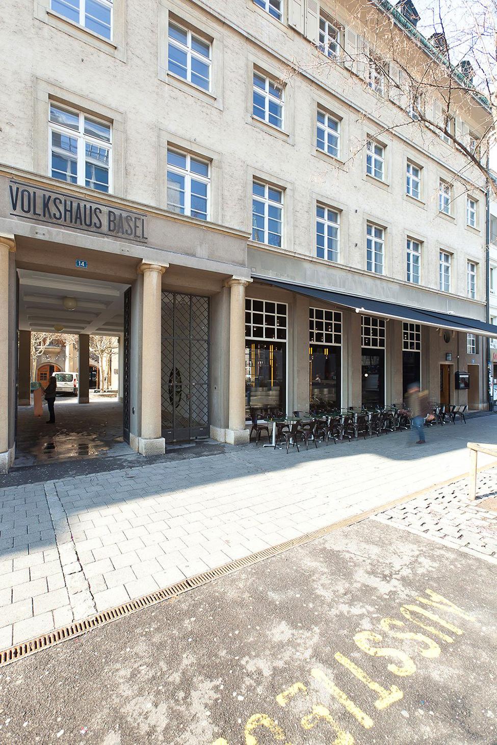 Пивной ресторан и бар Volkshaus Basel в Швейцарии