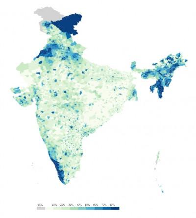 Туалеты в Индии в 2001 году