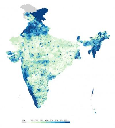 Туалеты в Индии в 2011 году