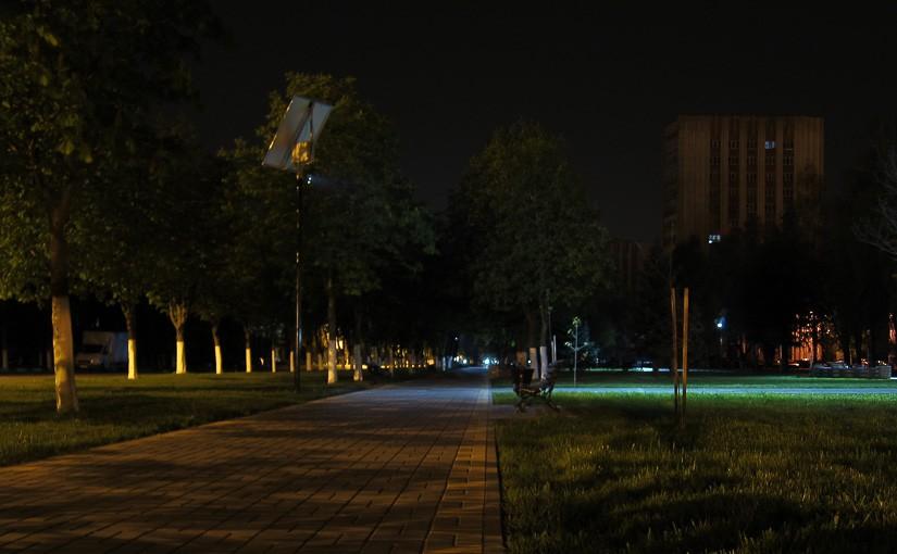 Фонари на солнечных батареях в Гомеле