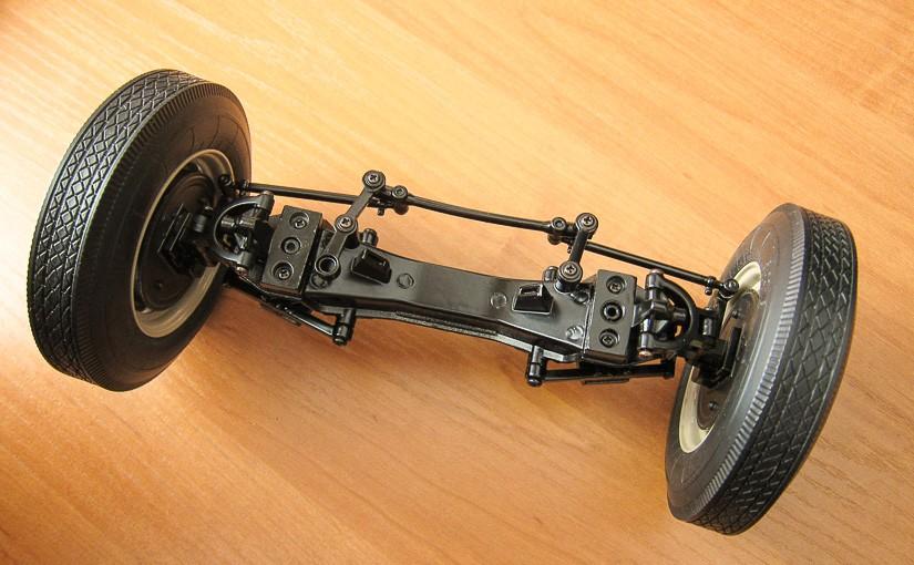 Модель автомобиля ГАЗ-М-20 «Победа» (№5): Левая сторона передней подвески
