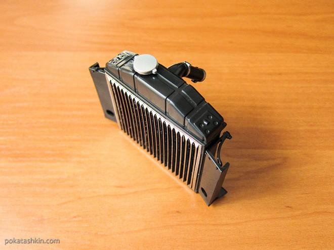 Модель автомобиля М20 «Победа» в масштабе 1:8 (№17): Сборка радиатора