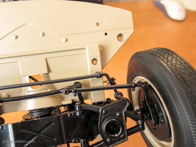 Модель автомобиля М20 «Победа» в масштабе 1:8 (№20): Шасси