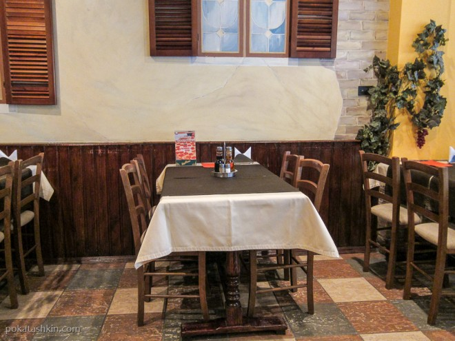 Ресторан «Итальянская кухня»: зал для некурящих