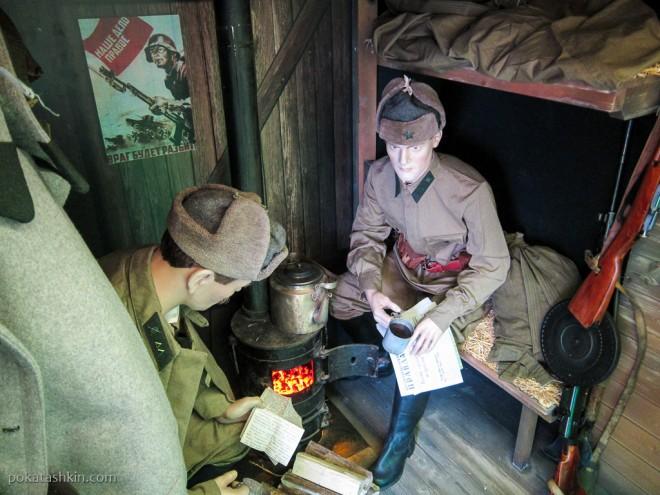 Модель вагона-теплушки времён Великой Отечественной войны