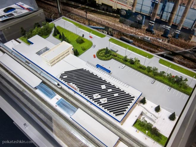 Система солнечных модулей вокзала в Анапе