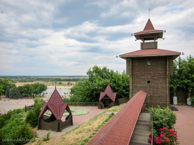 Вид из Охотничьей башни, Мозырский замок