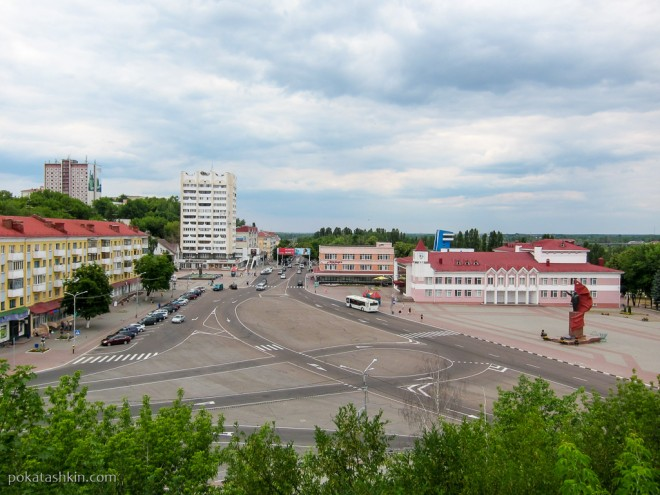 Площадь Ленина - центр города Мозырь