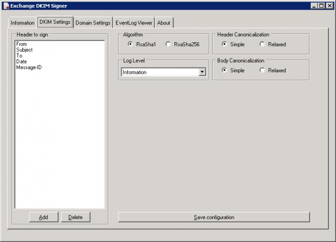 Настройка DKIM в MS Exchange Server