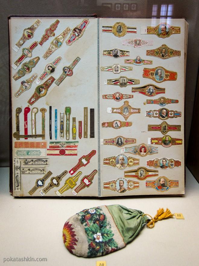 Альбом с этикетками от табака, конец XIX - начало XX веков