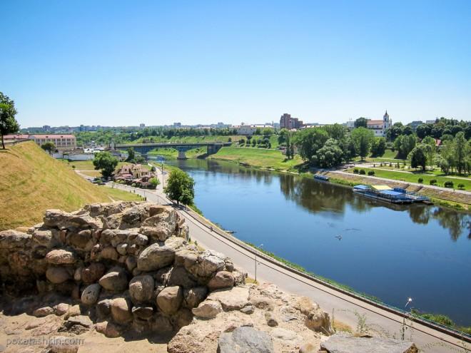 Вид со стены Старого замка в Гродно