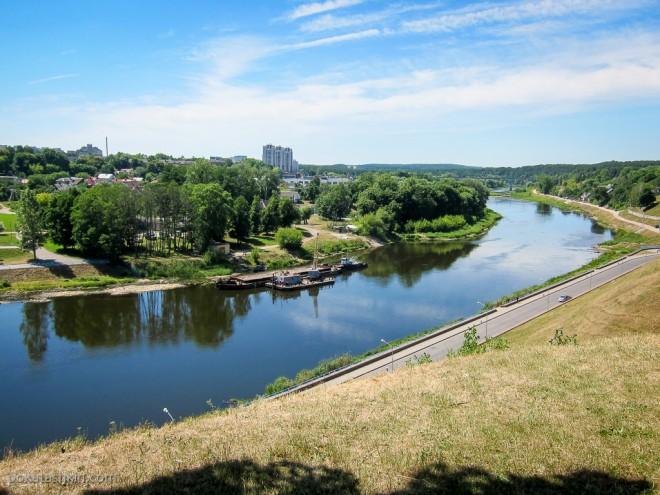 Вид с территории Нового замка в Гродно