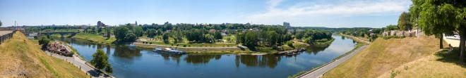 Панорама с территории Нового замка в Гродно