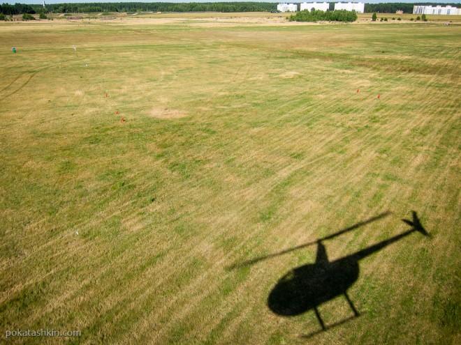 Полёт на вертолёте Robinson R44 над Минском
