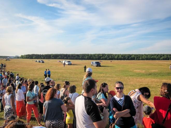 Полёт воздуншных шаров над Минском