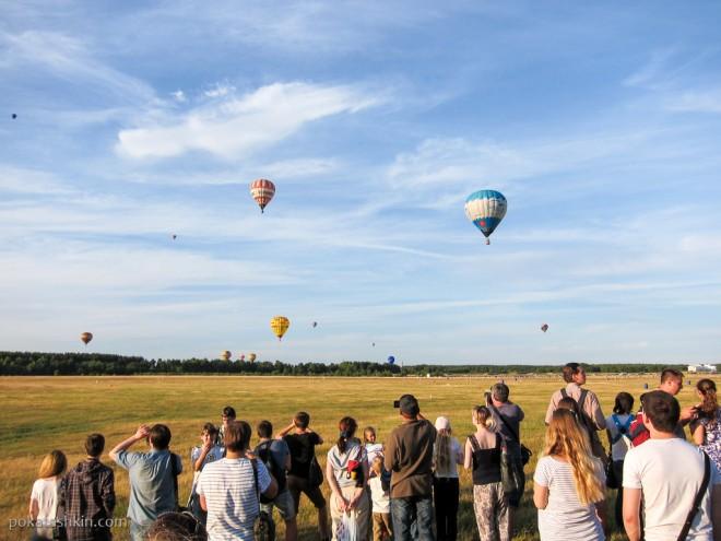 Полёт воздушных шаров над Минском