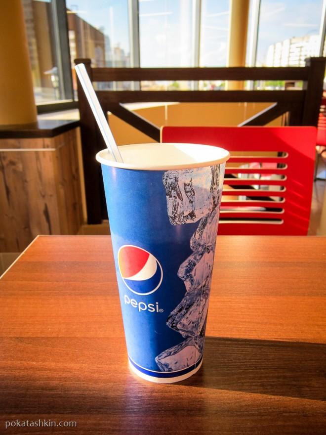 Безлимитный газированный напиток 0,5л в «Burger King»