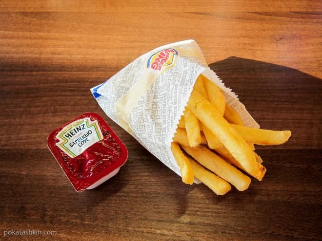 Кинг Фри - большая порция картофеля фри с соусом Heinz