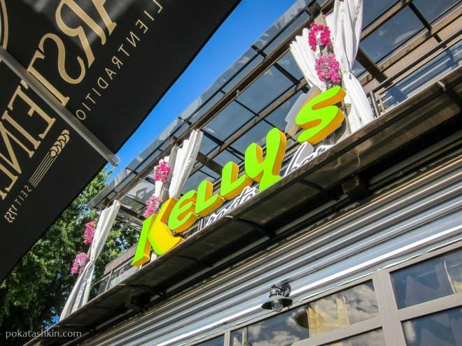 Летняя терраса в кафе «Kelly's» / «Келлиз» / «Келлис» (Гомель)