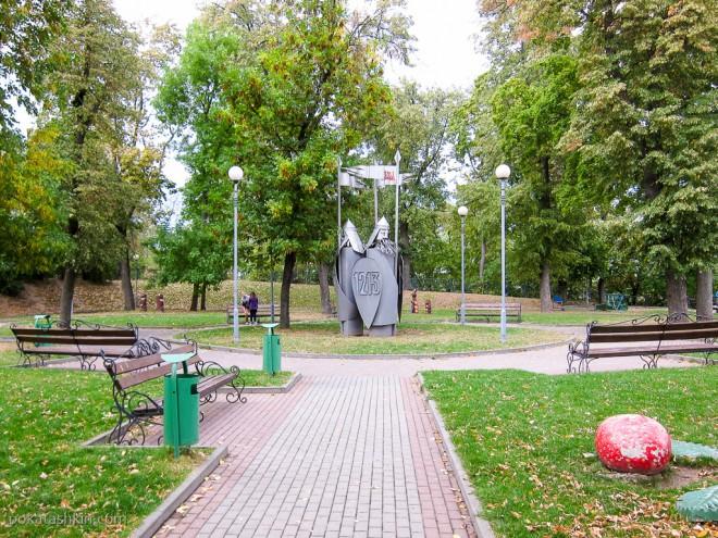 Богатыри в детском парке