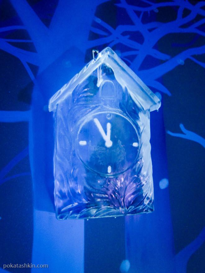 Ледяные новогодние часы