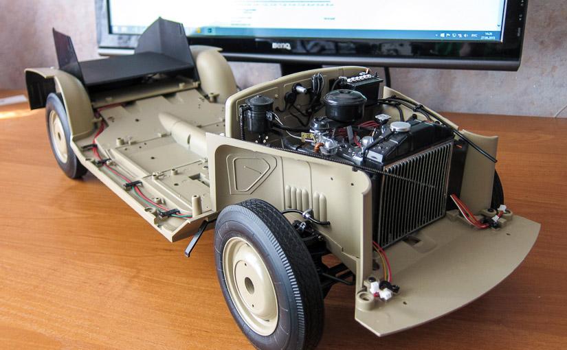 Модель автомобиля ГАЗ-М-20 «Победа» в масштабе 1:8 (№38-49)