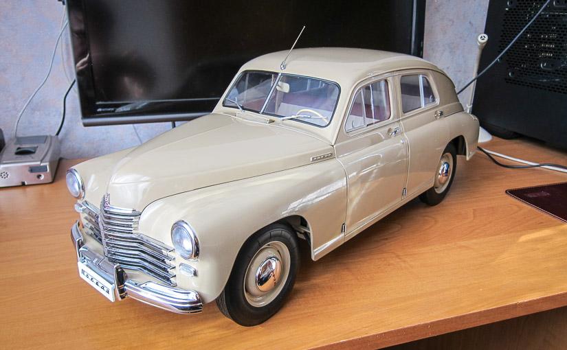 Модель автомобиля ГАЗ-М-20 «Победа» в масштабе 1:8 (№82-100)