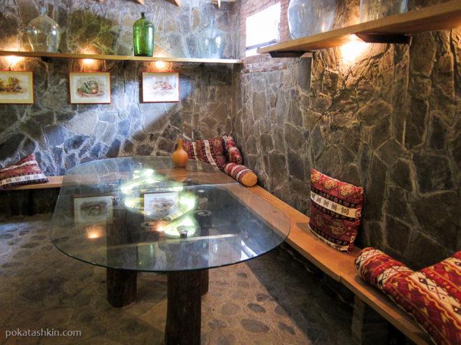 Зал для дегустации вина