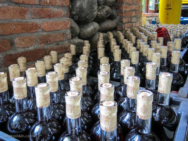 Вино из кахетинского винограда