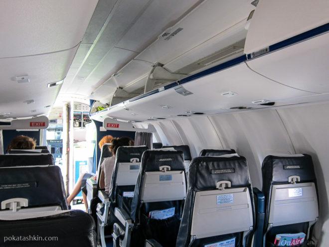 Салон Bombardier CRJ200