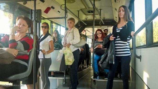 Обычный белградский автобус №72