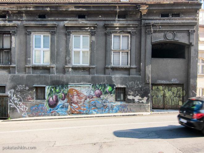 Разрисованные стены в Белграде
