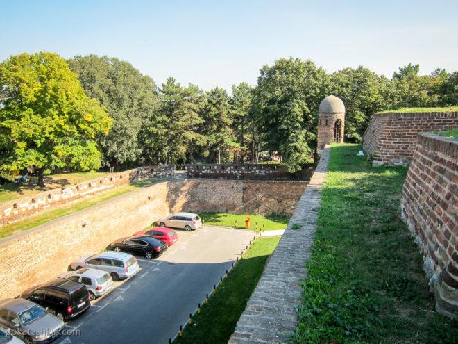 Стены Белградской крепости