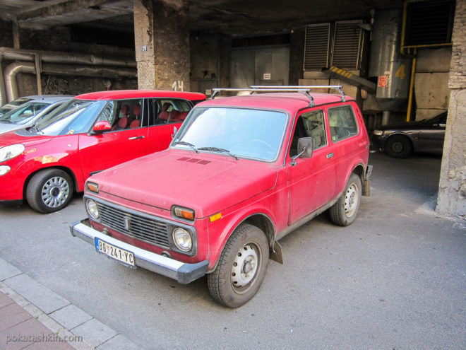 Автомобили на белградских улочках