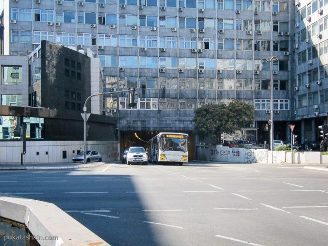 Теразийский тоннель под зданием