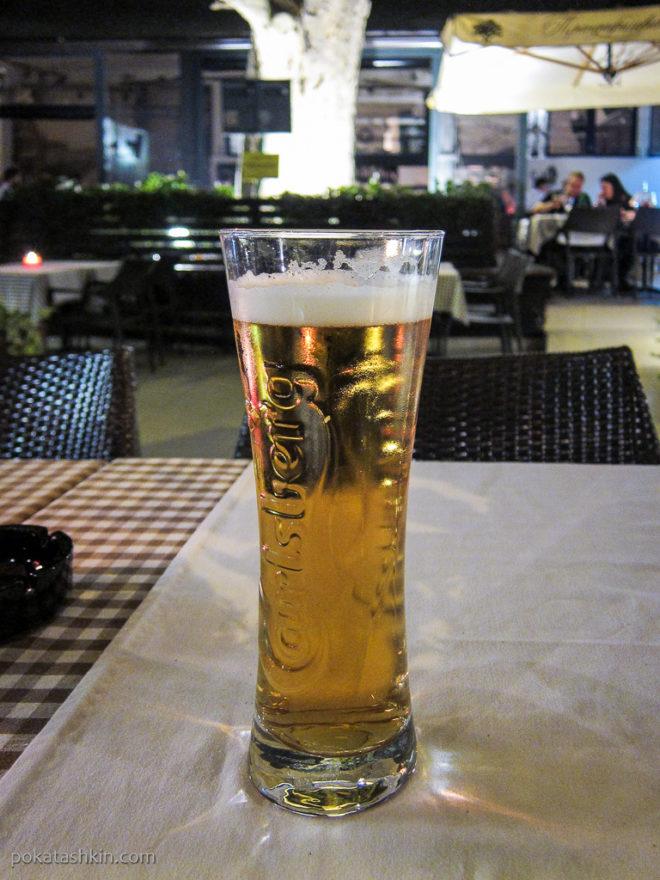 Бокал разливного пива