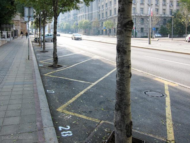 Парковочные места на улицах Белграда пронумерованы