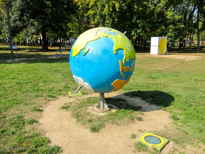 Глобус с осью параллельной оси Земли