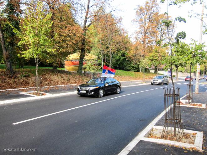 Сербская свадьба с флагом
