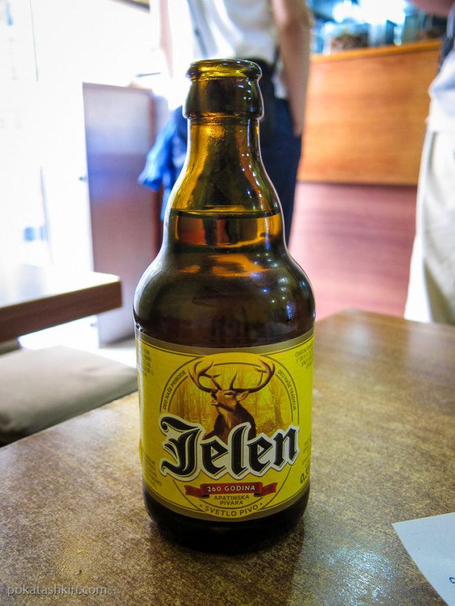 """Пиво """"Jelen"""""""