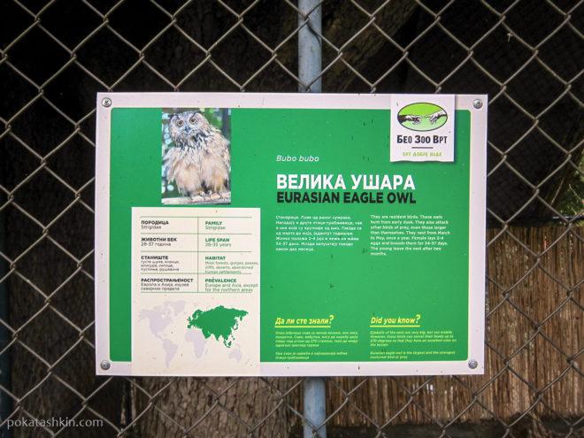 Информационные таблички белградского зоопарка
