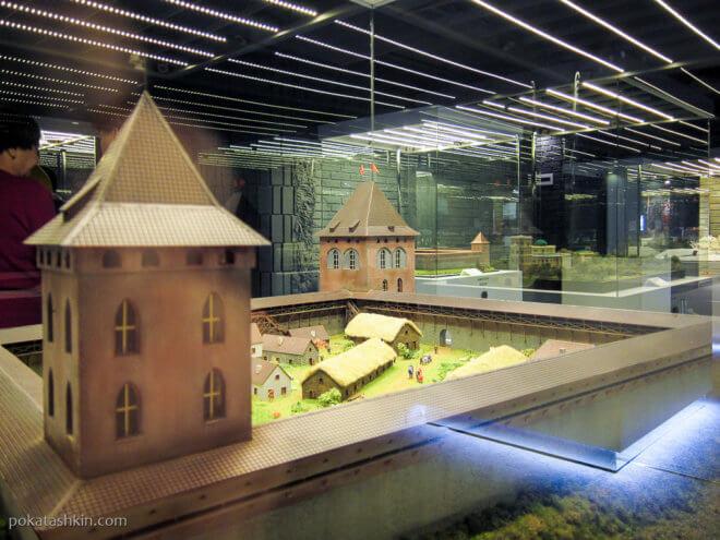 Кревский замок в агрогородке Крево, Гродненская область, XIV век