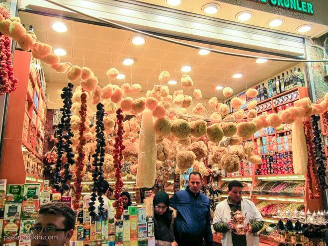 Мочалки на Египетском базаре