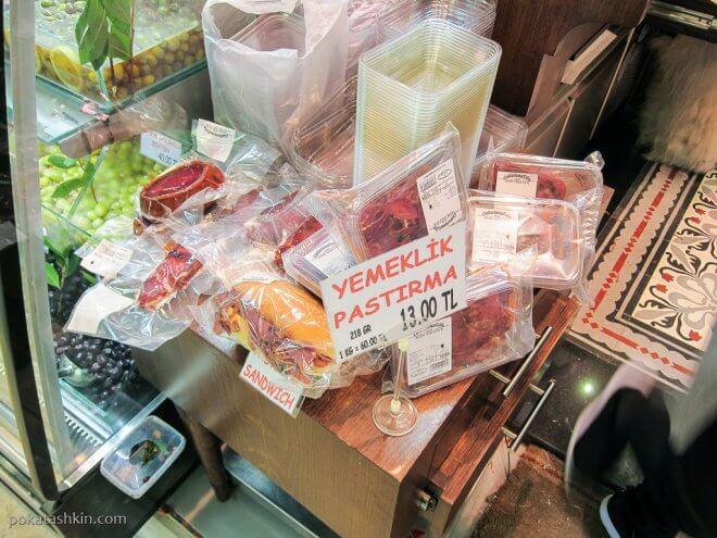 Колбасы на Египетском базаре