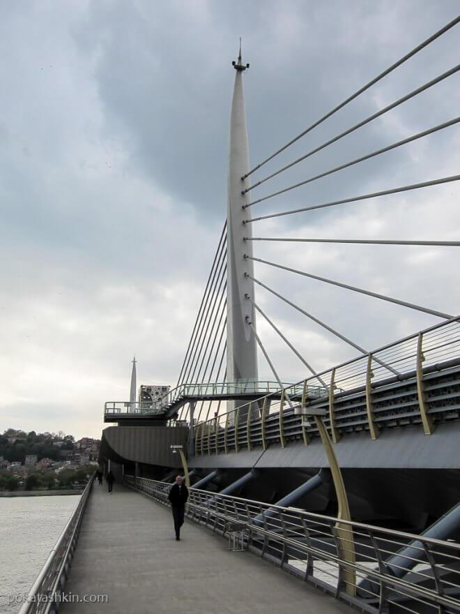 Вантовый разводной мост