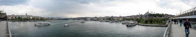 Панорама с моста Золотой Рог