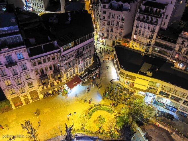 Вечерний Стамбул, вид с Галатской башни на окружающие кварталы